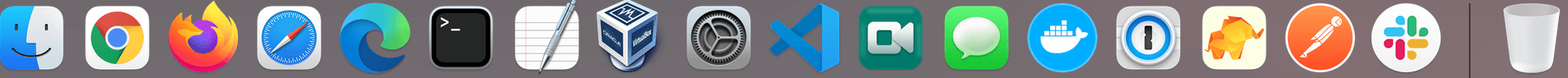 OS X Dock with apps